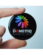 Dometiq.fr - étiquettes en doming rondes