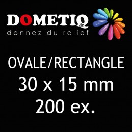 Rectangle/Ovale 30 x 15 mm...
