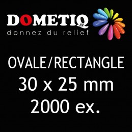 Rectangle/Ovale 30 x 25 mm...