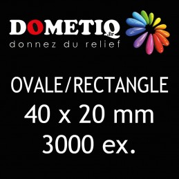 Rectangle/Ovale 40 x 20 mm...
