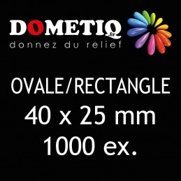 Rectangle/Ovale 40 x 25 mm...
