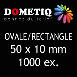 Rectangle/Ovale 50 x 10 mm...