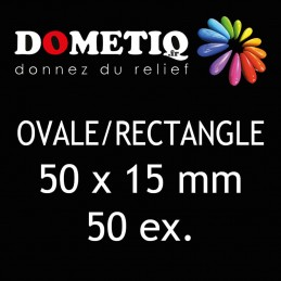 Rectangle/Ovale 50 x 15 mm...