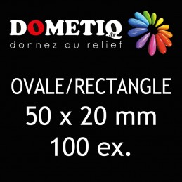 Rectangle/Ovale 50 x 20 mm...