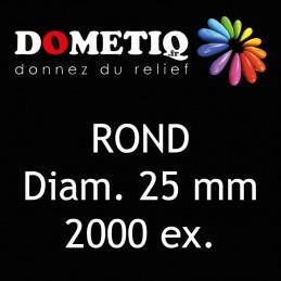 Rond Diam. 25 mm - 2000 ex